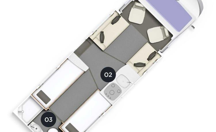 Daisy  – Luxury 4 Berth Platinum Motorhome