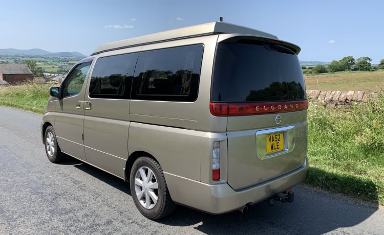 4 berth 4 belted seats
