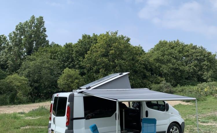 KIWI 5 – Renault trafic Zelf-voorzienende Eco Camper