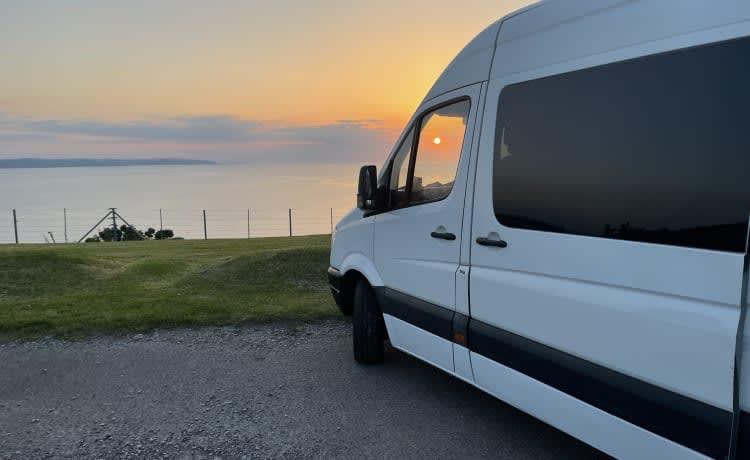 Bella  – 4 berth, off-grid camper van, perfect for families
