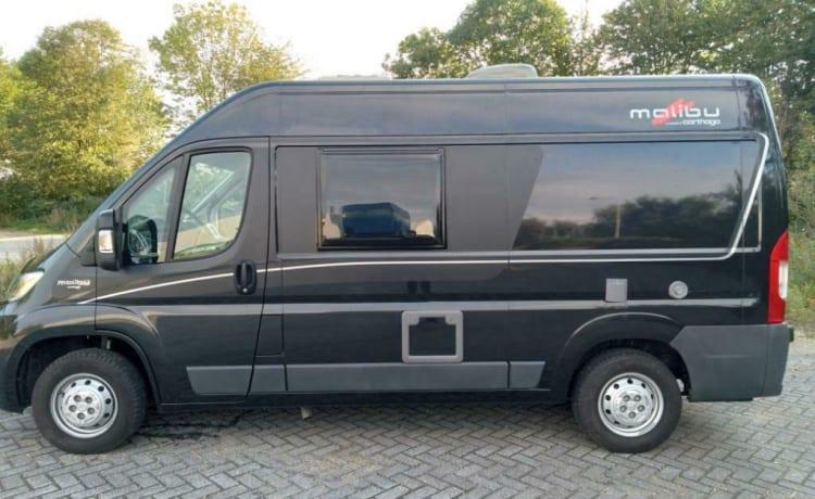 Malibu Van – Compacte luxe Malibu buscamper met laag bed!