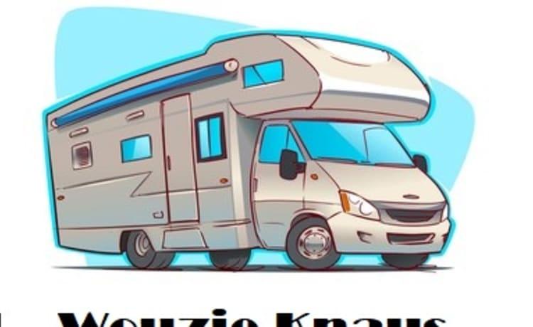 Wouzie knaus  – Hippe familie camper 5 personen met airco in Drenthe