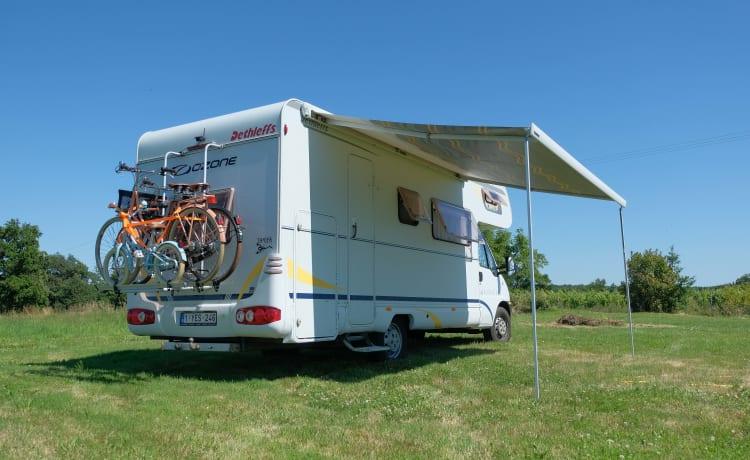 Casa mobile di qualità spaziosa e lussuosa di Dethleffs