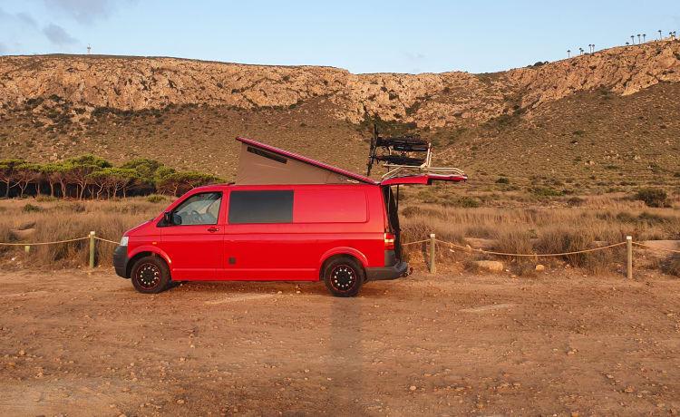 Onze mooie brandweerbus.  – Volkswagen t5.