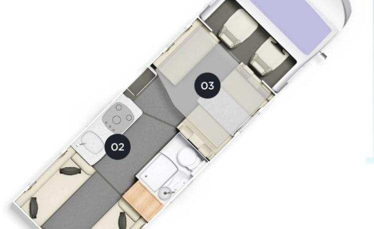 chatsworth – Superb Luxurious 6 berth, 6 seatbelt Motorhome