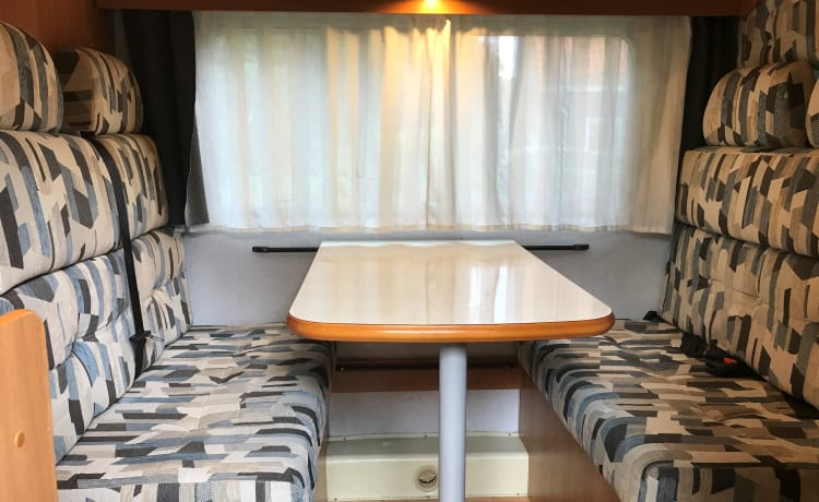 Cozy compact family camper