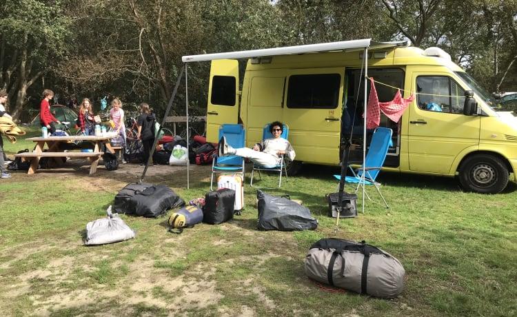 Unico camper autocostruito (ambulanza) per 2 persone