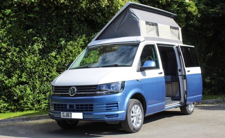 Blue & White – Volkswagen T6 Crusader Campervan