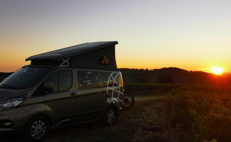 Modern hippie busje – Nuovo Westfalia Ford Nugget, 185 CV automatico, full optional!
