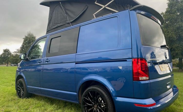 Blue – GLOEDNIEUWE VW TRANSPORTER CAMPERV