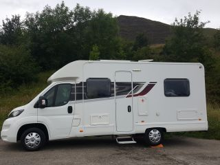 Stunning 4 berth 4 seat belts fixed bed low roof motorhome