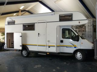 Eura Mobile with bunk bed and folding garage! Complete with inventory.