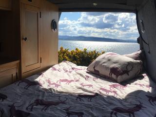 Mooie VW T4 pop dak camper