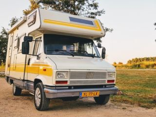 "Meet ""Mellow Yellow"": Retro camper for adventurers. Pets allowed!"