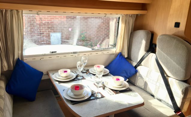 4 Berth Motorhome in Norfolk next to the Broads