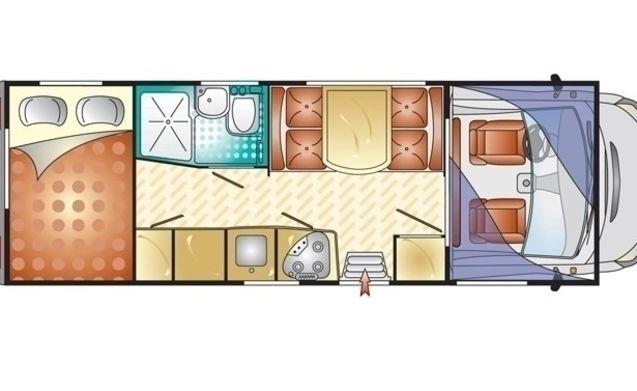 Camper voor 6 personen, vast bed / BF6