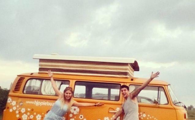 huur een originele hippiebus uit 1976!