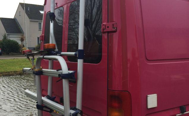 De vrolijke roze – Allegro rosa VW camper