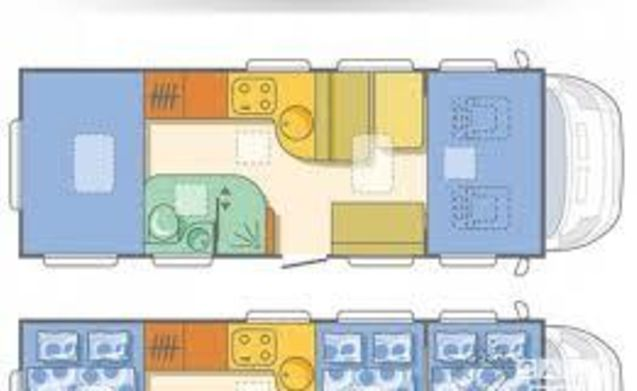 vrijheid op wielen  – very complete with XXL garage 2x2persoons spacious beds
