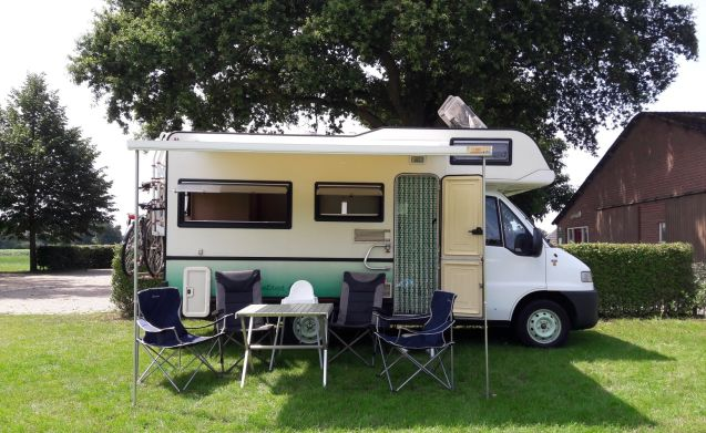 """Sminty Minty"" – Fijne/gezinsvriendelijke Fiat camper evt plus privé parkeerplaats"