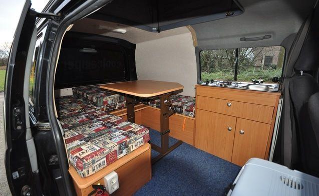 Type 1A – Gave compacte camper met hefdak en groot bed