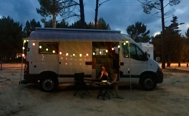 The Van Chop – Reliable Renault Master converted to (surf) camper bus.