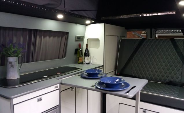 Snowdrop - our gorgeous compact T5 campervan