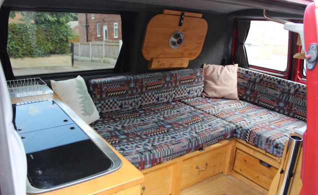 Neville – Neville the woody. A quirky and simple campervan.