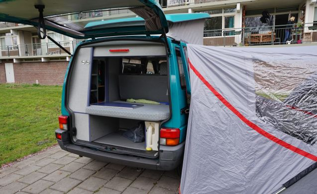 Merry green camper van - Volkswagen California Coach