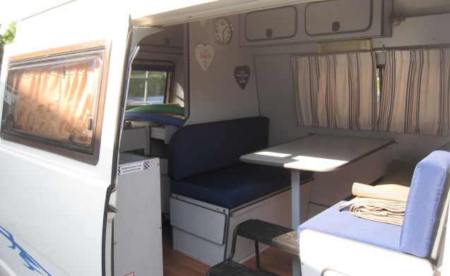 Small camper where many holidays can be celebrated.