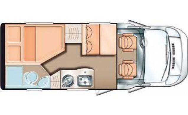 Comfortabele camper voor 4 personen en 3 slaapplaatsen / BC3