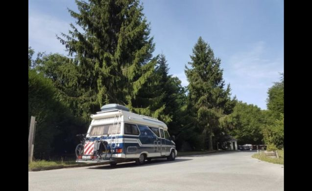 Kluk kluk – Camper with (bicycle) carrier with ramp plate!