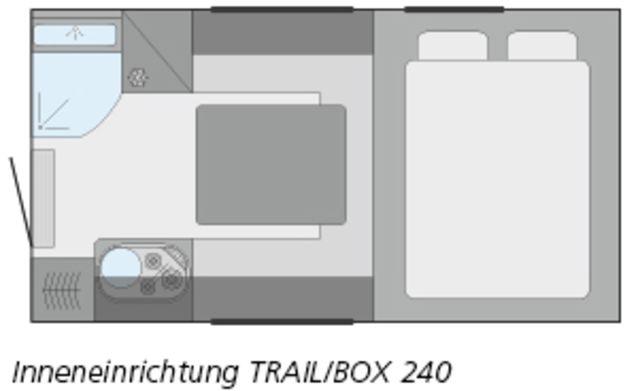 Ford Ranger mit Tischer Box 240 Wohnwagen
