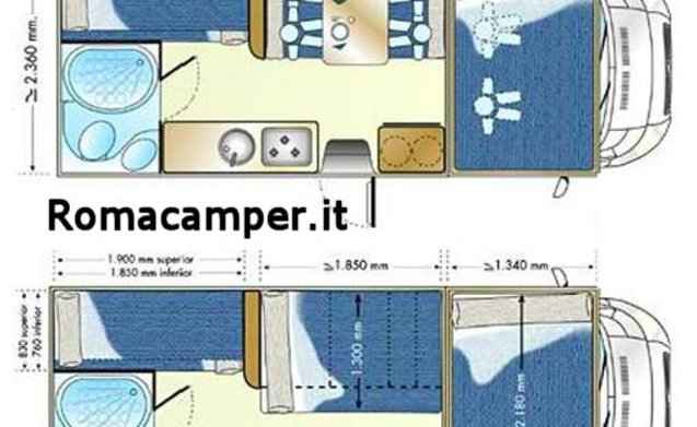 CAMPER 6POSTI + NAVI + SOLAR PANEL + FULL OPTIONAL CAMERA