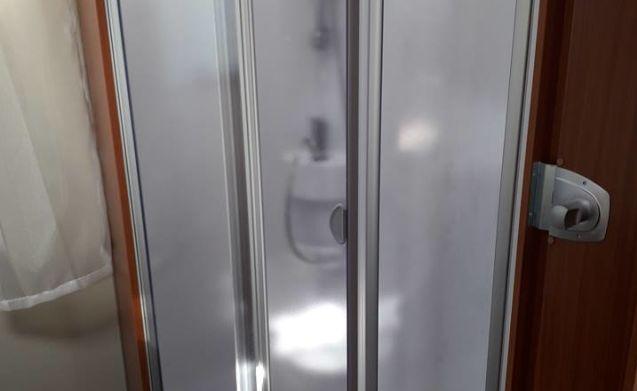 Hymer, Etrusco QB7400 motorhome - Geen KM-heffing VA 3 weken verhuur