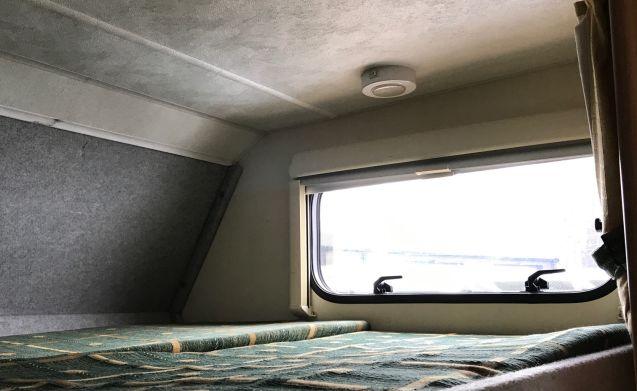 Comfortable Highland motorhome, seats 2, sleeps 4