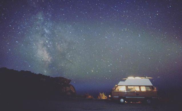 Original Volkswagen T3 camper with high roof