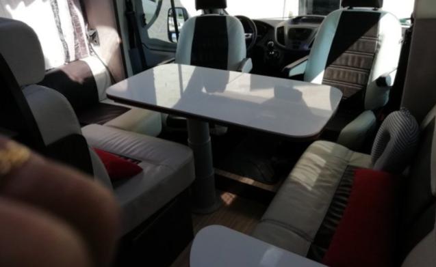 topcamper FORD transit benimar, FULL option, 190pk, 5 gordels, 6 slaapplts – topcamper FORD transit benimar, opzione FULL, 190hp, 5 cinture, 6 posti letto