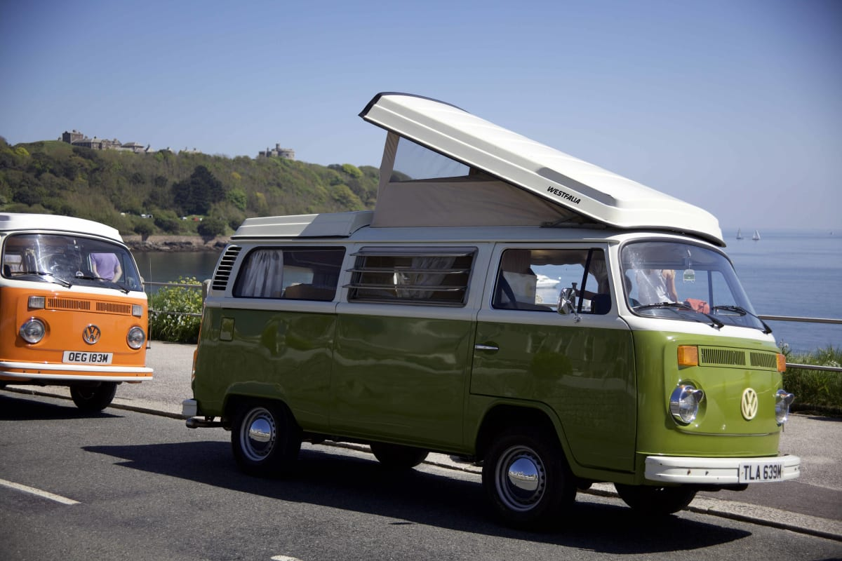 Olive Classic Vw Camper Van Hire In Cornwall From 78 00 P D Goboony