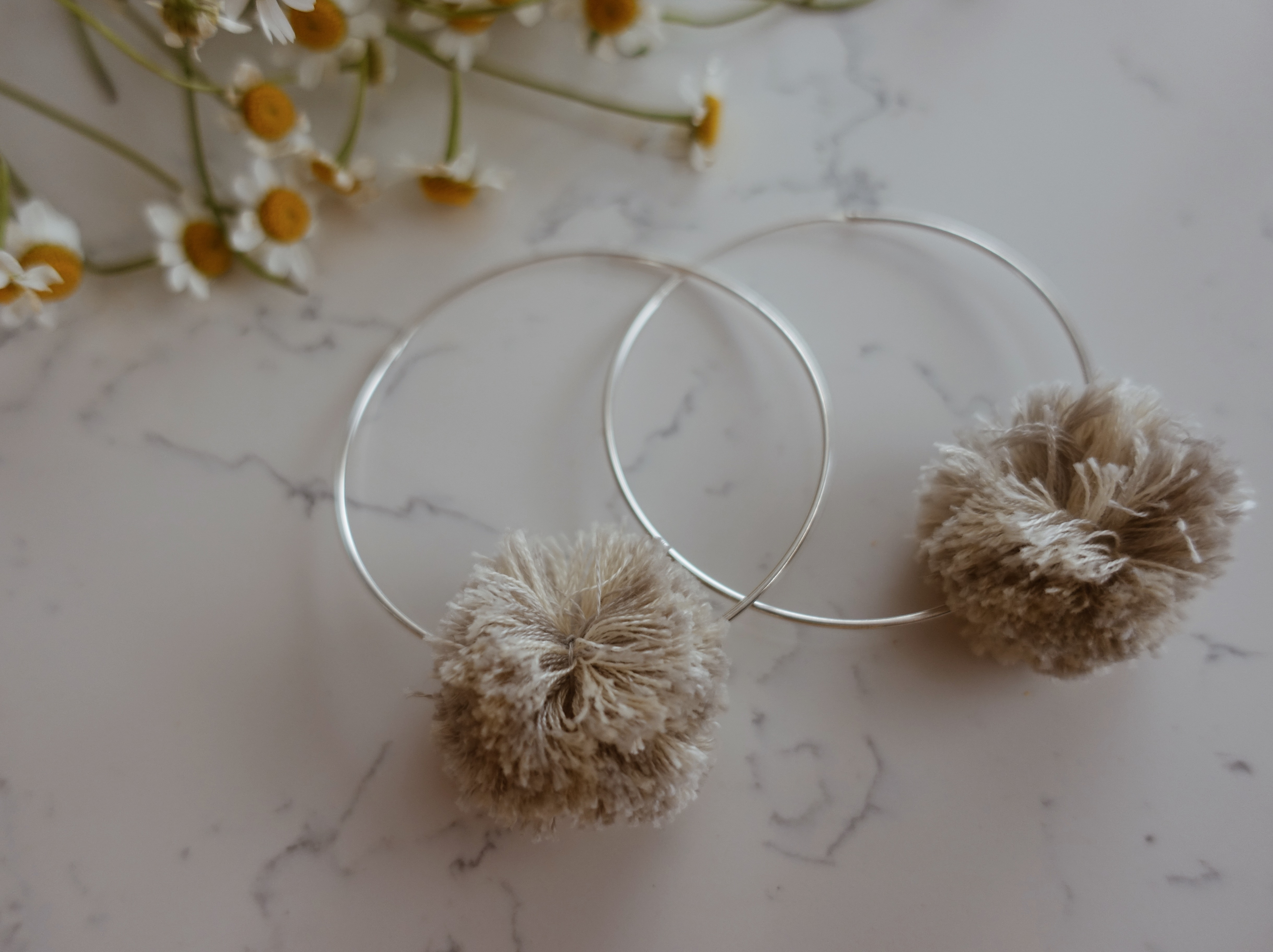 PomPom Hoops + Double Leather Choker - Product Review