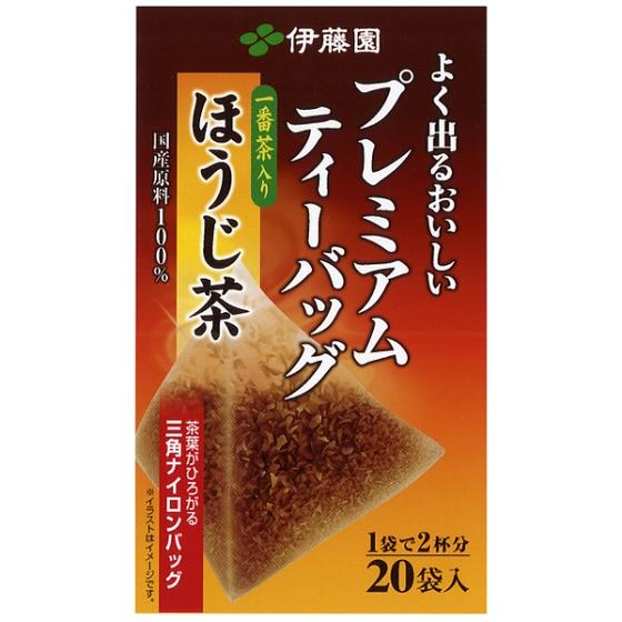 伊藤園 プレミアムティーバッグほうじ茶  1.8g×20袋入