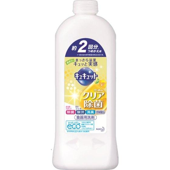 花王 キュキュット クリア除菌レモンの香詰替用 385ml