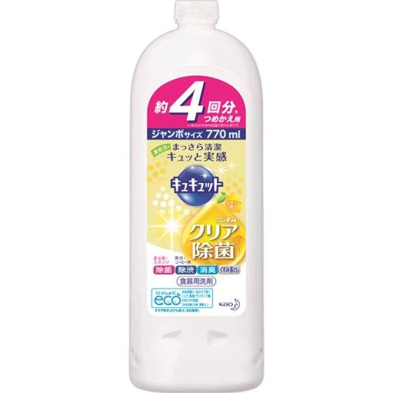 花王 キュキュット クリア除菌 レモンの香り 詰替用 770ml