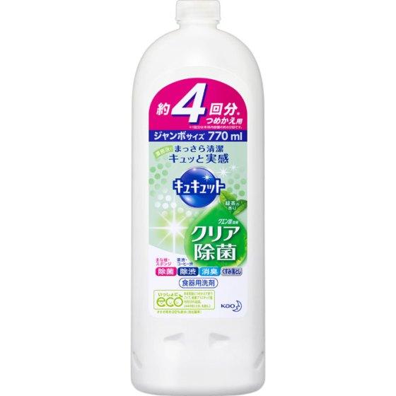花王 キュキュット クリア除菌 緑茶の香り 詰替用 770ml