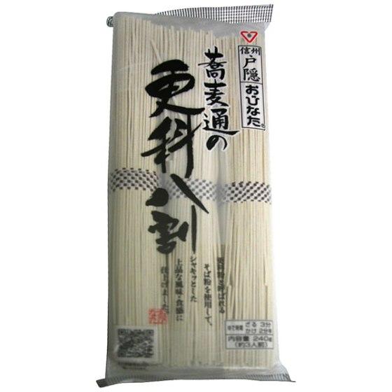 おびなた 蕎麦通の更科八割 240g