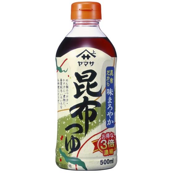 ヤマサ醤油 昆布つゆ 500ml