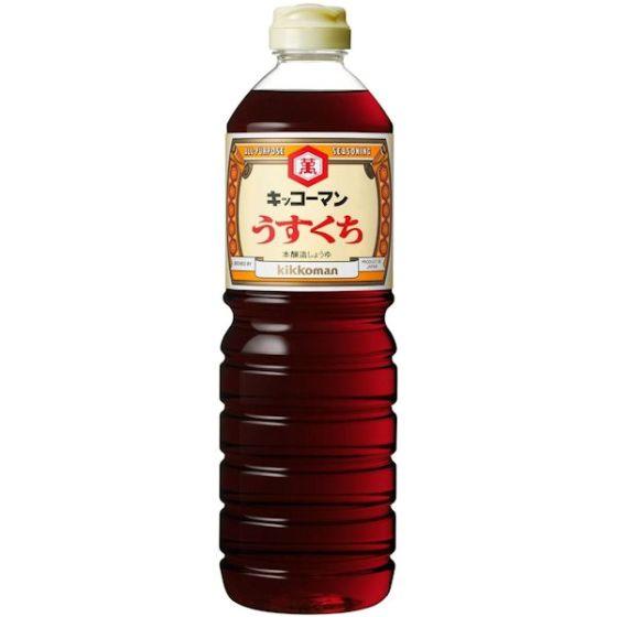 キッコーマン食品 醤油 うすくち1L