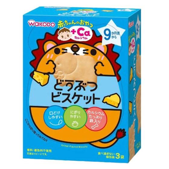 【9ヶ月頃~】和光堂 赤ちゃんのおやつ+Caカルシウム どうぶつビスケット 11.5g×3