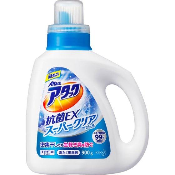花王 アタック 抗菌EX スーパークリアジェル 本体 900g