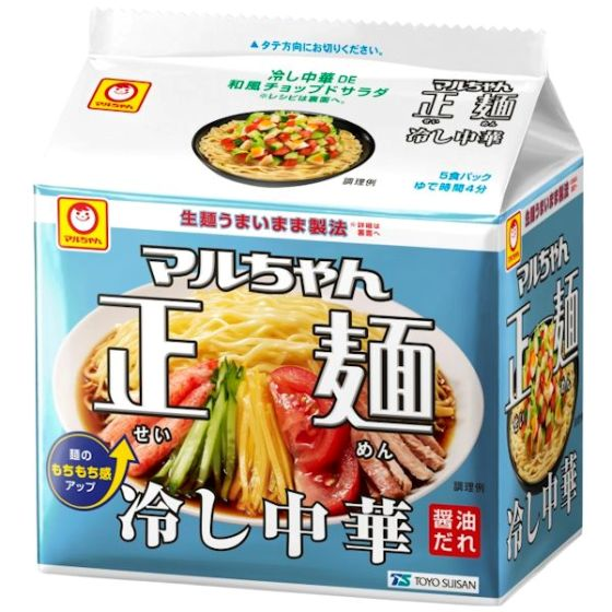 東洋水産 マルちゃん正麺 冷し中華 118g×5食